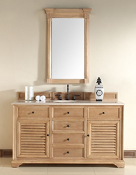 "Savannah 60"" Unfinished Bathroom Vanity In Natural Oak 238-104-5321 from James Martin Furniture"