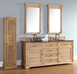"Savanna 72"" Double Bathroom Vanity With Mirrors and Cabinet 238-104-5721 from James Martin Furniture"