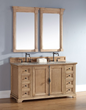"Providence 60"" Unfinished Bathroom Vanity In Natural Oak 238-105-5621 from James Martin Furniture"
