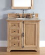 "Providence 36"" Solid Wood Bathroom Vanity In Natural Oak 238-105-5521 from James Martin Furniture"