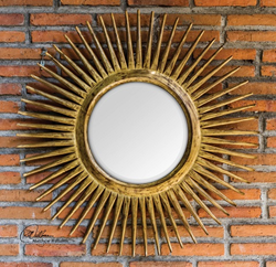 Uttermost Destello Gold Starburst Mirror 05032