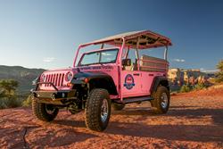 Pink Jeep Tours builds custom Jeep Wrangler tour vehicle in Sedona, Arizona.