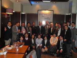 Partner Steven Schwartz of Joel H. Schwartz, P.C. meets with a group of 18 legal professionals from Japan as a part of Funai Soken's STUDY Tour.