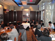 Steven Schwartz of Joel H. Schwartz, P.C. discussing personal injury law with law professionals from Japan.