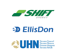 Logos: SHIFT Energy, EllisDon, UHN