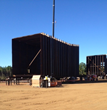 Saulsbury Field Fabricated Ductwork Sections for AEP's Welsh Baghouse Project.