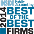 GBH Announces Selection to INSIDE Public Accounting's Best of the Best Firms List for 2014