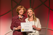 Care Net's Cynthia Hopkins Presents the Regent University Scholarship to Christina Oien