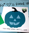 Teal pumpkin banners for Halloween