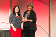 Melinda Gardner receives Perseverance Award from Car Net's Eve Gleason