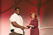 Care Net's Cynthia Hopkins Presents Gary Freeman With Father Outreach Award on behalf of Gatway