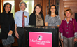 Members of Manhattanville School of Business's Nonprofit Management Certificate program advisory board, including Maria Imperial; Terry Kirchner; Catherine Marsh; Joanna Straub; with Rhonna Goodman.