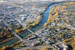 Aerial photo of Red Deer, Alberta