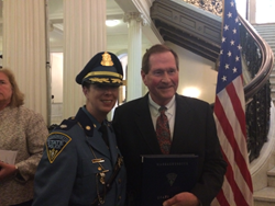 Dr. Morris with Lt. Col. Costine