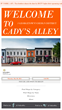 The main page for Cady's Alley allows users to find their specific location or browse all tenants.