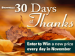 Brownells Gives Thanks, Prizes Every Day in November