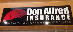 Sign for Don Allred office in Holly Hill Mall