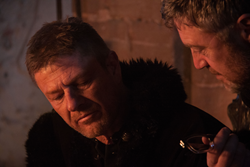 Ciara McAvoy, Sean Bean and Vincent Regan