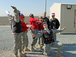 christmas sweaters donated to troops from My Ugly Christmas Sweater