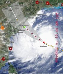 HudHud Category 4 Hurricane, October 2014