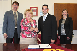 UMHS and Gannon Articulation Agreement Signing