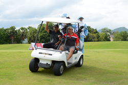 Golfers at the Centara World Masters Golf Championship
