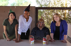 Left to right: EMCC Education Students Arlin Cordova-Hurtado, Xanise Twinn, Franciso Honne and Bethany Stevens