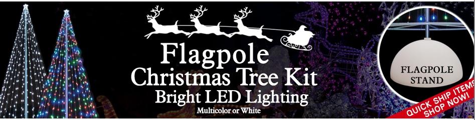 Flagpole Christmas Tree by The Flag Company, Inc. Makes Businesses ...