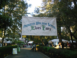 Banner for Elves' Faire fundraiser for this private school in Altadena, California