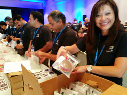 Volunteers assembled thousands of hands-on learning kits to inspire students in STEM education.