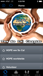 HOPE worldwide So Cal mobile application - Download today.