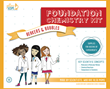 Packaging for the Foundation Chemistry Kit Features the Yellow Scope Science Girls