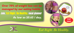 Eat Right. Be Healthy. meal planner by Kardio-Xercise™