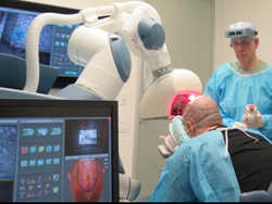 Dr. Robert M. Bernstein Performing Robotic Recipient Site Creation at Bernstein Medical