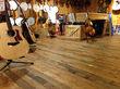 Reclaimed Foundry Maple has a new life in the Guitar Center in NYC.