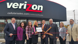 Cellular Sales Rome store ribbon cutting