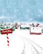 North Pole Printed Backdrop