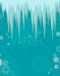 Frozen Icicle Printed Backdrop