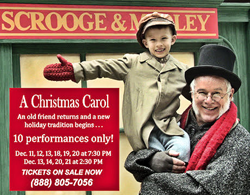 "10 chances to catch Totem Pole's classic portrayal of ""A Christmas Carol."""