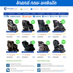 New Website for the Home of the Massage Chair Experts