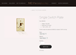 A single switch cover can be purchased in a variety of materials through the NEWwoodworks website.