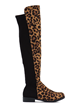 Score Slim Leopard Over-The-Knee Boots