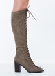 Statement Day Beige Lace-Up Boots