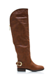 Buckle Back Chestnut Brown Riding Boots