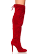 Tie It Up Red Over The Knee Boots