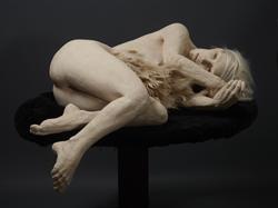 susannah zucker | avian | ceramic, feathers and sheepskin | 38 x 65 x 32 inches | 2014