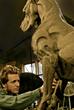 "Artist, Wesley Wofford creating Great Dane-Sentinel (Monumental) 55""h x 38""w x 20""d Bronze"