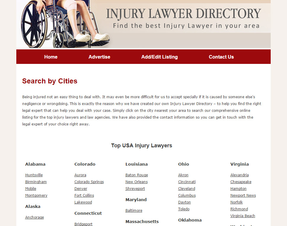 Personal Injury Attorney Directory Released at ...