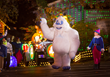 Silver Dollar City's new light parade includes 33 costumed characters including Rudolph's friend Bumble the Abominable Snow Monster.