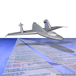 Flight Over Text